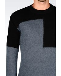 Emporio Armani - Blue Jumper In Virgin Wool for Men - Lyst