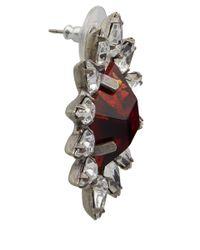 DANNIJO - Red Silver-Plated Neva Siam Italian Earrings - Lyst