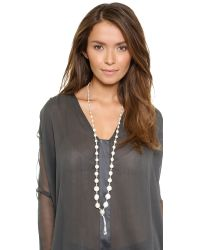 Chan Luu - Beaded Necklace  White Mother Of Pearl Mix - Lyst