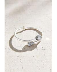 Urban Outfitters | Metallic Retro Edge Lock Bangle Bracelet | Lyst
