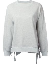 MM6 by Maison Martin Margiela | Gray Side Slit Sweater | Lyst