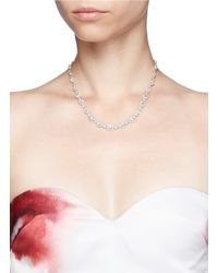 CZ by Kenneth Jay Lane | Metallic Multi Cut Cubic Zirconia Necklace | Lyst