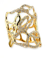 Ippolita | Metallic Drizzle Wide Gold Diamond Cutout Ring | Lyst
