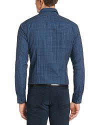 BOSS - Blue 'ronni' | Slim Fit, Cotton Button Down Shirt for Men - Lyst