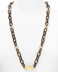 Michael Kors | Metallic Long Link Necklace 30 | Lyst