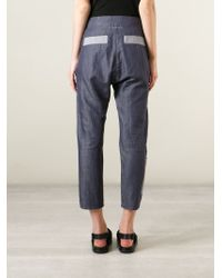 MM6 by Maison Martin Margiela | Blue High Waist Panelled Trousers | Lyst