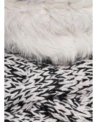Karl Donoghue - Multicolor Lambskin Trim Melangé Hand-knit Snood - Lyst