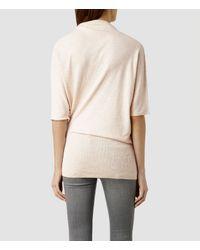 AllSaints - Pink Tilda Sweater - Lyst