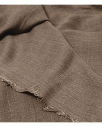 Zara | Brown Herringbone Foulard With Fringes for Men | Lyst