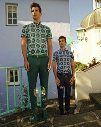Ted Baker - Green Triangle Pattern Socks for Men - Lyst