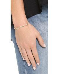 Shashi - Metallic Ballerina Tennis Bracelet - Lyst
