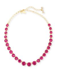 kate spade new york - Purple Graduated Crystal Statement Necklace - Lyst