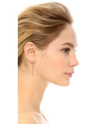 Kismet by Milka - Metallic Heroine Long Star Earrings - White Diamond - Lyst