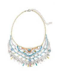 DANNIJO | Multicolor 'steinem Ii' Bib Necklace - Crystal Multi/ Silver | Lyst