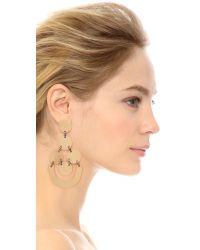 Tory Burch | Metallic Disc Chandelier Earrings - Gold Ox/hematite | Lyst
