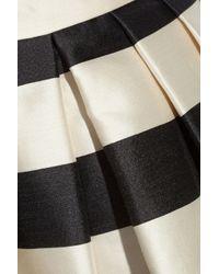 Tibi | Natural Escalante Striped Full Satin Skirt | Lyst