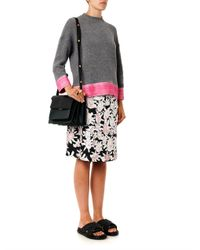 Marni - Pink Abstract Floral-Print A-Line Skirt - Lyst
