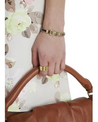 Michael Kors | Metallic Gold Tone Buckled Bracelet | Lyst