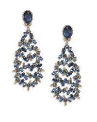 Alexis Bittar | Blue Elements Dark Alchemy Crystal Articulated Chandelier Clip-on Earrings | Lyst