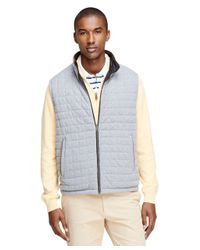 Brooks Brothers - Blue Reversible Vest for Men - Lyst