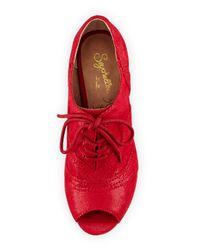 Seychelles - Red Eternity Peep-toe Oxford Pump - Lyst