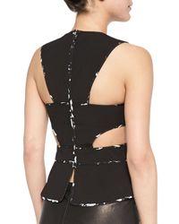 BCBGMAXAZRIA - Black Arianah Wrapped Cutout Top - Lyst