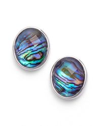 Judith Jack | Blue 'metal Moment' Stone Stud Earrings | Lyst