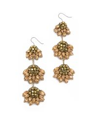 Vera Wang Collection - Metallic Jeweled Earrings - Gold - Lyst