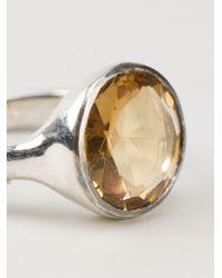 Rosa Maria - Metallic 'julia' Ring - Lyst