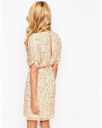 ASOS | Blue Sequin Kimono Mini Dress | Lyst