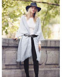 Free People - White Weekend Boucle Kimono - Lyst