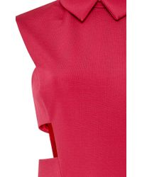 Cushnie et Ochs - Red Power Stretch Viscose Dress With Cutouts - Lyst