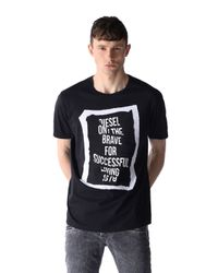 DIESEL | Black T-pasc for Men | Lyst