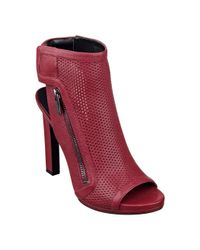 Nine West - Red Tiptoe Peep Toe Booties - Lyst