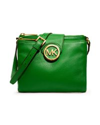 Michael Kors - Green Fulton Large Crossbody - Lyst
