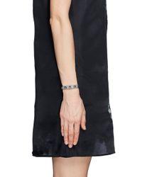 Valentino | Blue 'rockstud' Skinny Leather Bracelet | Lyst