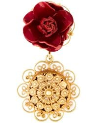 Dolce & Gabbana | Metallic 'Sacred Heart' Clip-On Earrings | Lyst