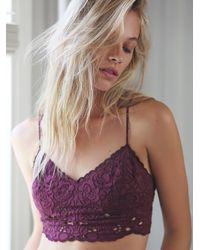 Free People | Purple Intimately Womens Wildflowers Crop Bra | Lyst