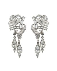 Ben-Amun | Metallic Crystal Double Drop Earrings | Lyst