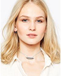 Wolf & Moon - Metallic Plateau Necklace - Silver - Lyst