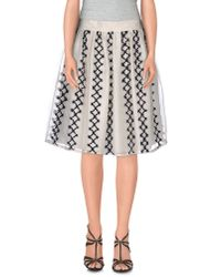 Jupe by Jackie - White Knee Length Skirt - Lyst