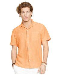 Polo Ralph Lauren | Orange Linen-silk Camp Shirt for Men | Lyst