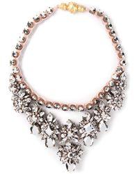 Shourouk - Pink Princess Comet Necklace - Lyst