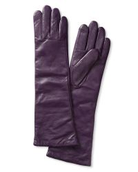 Banana Republic | Purple Long Leather Texting Glove | Lyst