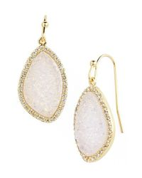 Marcia Moran | Metallic Drusy Drop Earrings | Lyst
