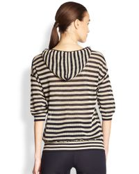 Akris Punto - Natural Striped Mesh Pullover - Lyst