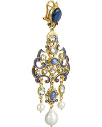 Percossi Papi | Blue Goldplated Multistone Earrings | Lyst