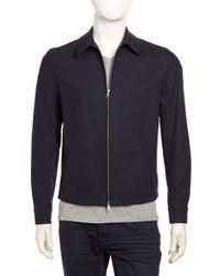 Vince - Lightweight Twill Zip Jacket Coastal Blue Small for Men - Lyst