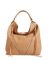 Rebecca Minkoff | Natural Moto Hobo Bag | Lyst