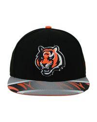 Lyst - Ktz Cincinnati Bengals Visor Stripe 59Fifty Cap in Black for Men 92b34732a